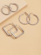 Casual Solid Geometric Earrings Design Sets