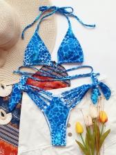 Sexy Leopard Backless Beach Bikini Sets