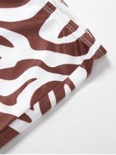 Sexy Print Tank Top With High Waist Pants