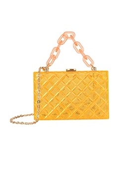 Fashion Solid Transparency Design Handbags
