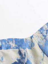 Ruffled Hem Printed Sleeveless Midi Dress