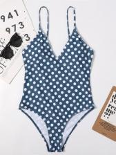 Women Backless Camisole V Neck Bodysuits Swimwear