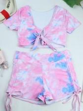 Latest Short Sleeve Swimming Tank Bikini Sets