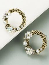 Easy Matching Vintage Faux-Pearl Stud Earrings