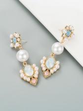 Trendy Faux-Pearl Party Long Earrings Ladies