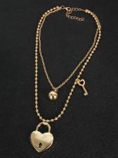 Stylish Chic Heart Shape Pendant Necklace Women
