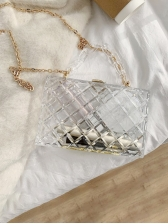 Fashion Solid Transparency Design Handbags