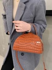 Vintage Solid AlligatorPrint Ladies Handbags