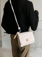 New Stone Pattern Small Shoulder Bags
