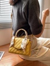 New Silk Patchwork RhombusPlaid Handbags
