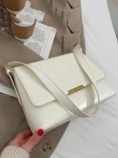 Fashion Plaid Solid ArmpitsBag Shoulder Bags