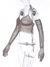 Sexy Gauze Perspective Camisole With Oversleeve
