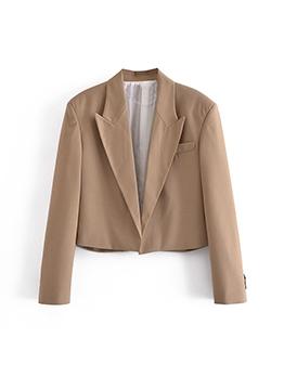 Loose Solid Long Sleeve Womens Blazer