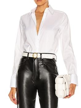 Simple Patchwork Solid Long Sleeve Bodysuit