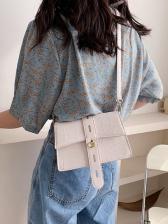 Korean Style Simple Solid Women Shoulder Bag
