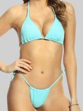 Sexy Solid Two Piece Bikini Summer