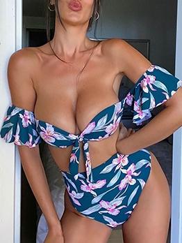 Printing Fashion Plus Size Two Pieces Bikini Sets