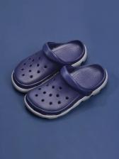 Casual Holes Round Closed Toe Men Sandal