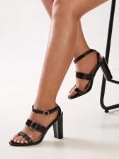 Roman Style Chunky Heel Ladies Sandal