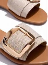 Summer Slip On Round Toe Flat Slipper