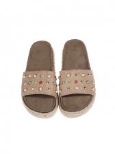 Fashion Beading Women Platform Womens Slippers