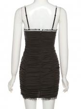 Summer Fashion Sexy V Neck Ruched Bodycon Dress