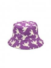 Pigeon Printed Vogue Casual Fisherman Hat