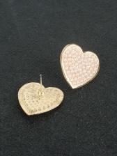 Heart Shape Faux-Pearl Stud Earrings Women