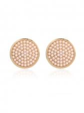 Faux-Pearl Simple Geometric Stud Earrings