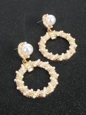 Euramerican Style Street Faux-Pearl Earrings Women