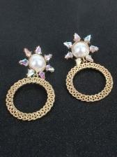 Simple Geometry Vintage Faux-Pearl Earrings Women