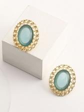 Vintage Geometry Resin Hollow Out Earrings Women