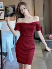 New Gauze Patch Short Sleeve Dress