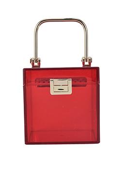 Online Solid Transparent Trendy Women Handbag