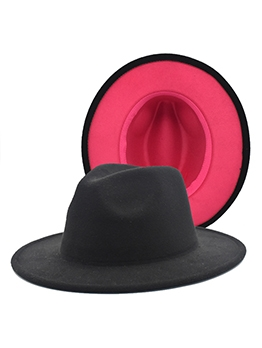 Contrast Color Unisex Autumn Fedora Hat