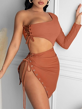Casual Sexy Solid Two Pieces Skirt Sets Ladies