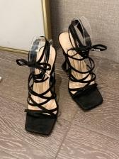 Goblet High Heel Lace Up Summer Sandals