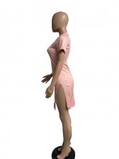 Gradient Color Short Sleeve Bodycon Dress