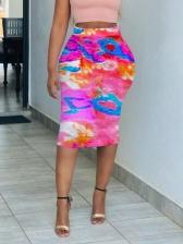 New Arrival Tie Dye Women Pencil Skirt