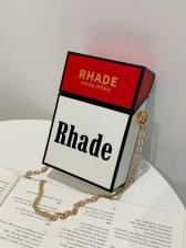 Cigarette Case Shape Design Cute Pu Shoulder Bag