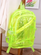 Stylish Solid Transparent PVC Backpacks For Students