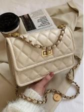 Fashion Chain RhombusPlaid Shoulder Bags