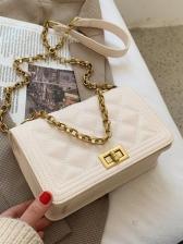 New Chain RhombusPlaid Shoulder Bags