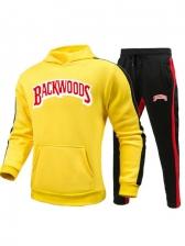 Letter Fashion Hooded Neck men activewear Sets