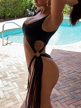 Latest Style Sexy Hollow Out One Pieces Bikini Ladies