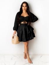 Trendy Ruffled Long Sleeve Dresses For Women