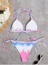 Tie Dye Printing Seductive Two Pieces Bikini Sets