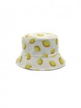 Lemon Print Cotton Spring Fashion Fisherman Hat