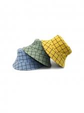 Plaid Printing Reversible Trendy Bucket Hat