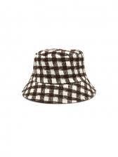 Fashion Plaid Vintage Korean Reversible Fisherman Hat